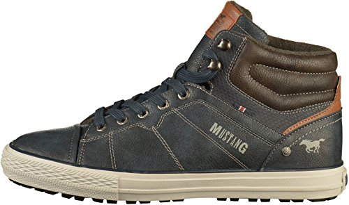 Bleu Homme Baskets Top High Mustang Hautes Sneaker 8wFY70xq