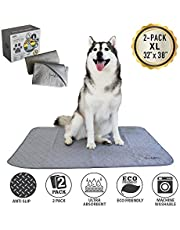 Trendy Den Creations Puppy Pads Washable Pee Pads for Dogs - Reusable Puppy Training Pads - Dog Bed - Dog Crate Pads - Dog Kennel Pads 82X97cm 2 Pack Washable Dog Training Pads - Pet Whelping Pads - Pee Pads for Cats or Cat Bed