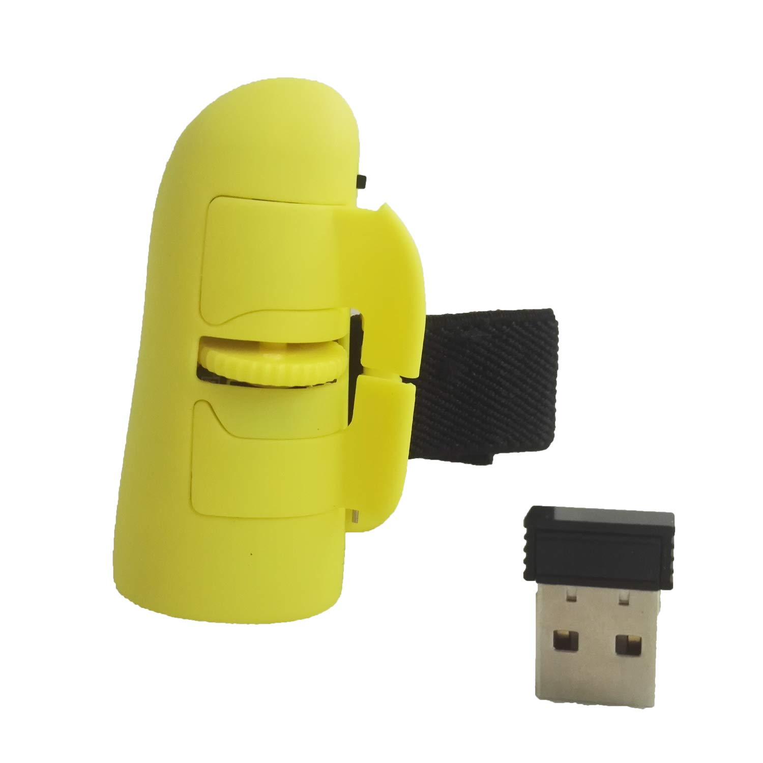 Yellow Goaup Wireless Finger Mouse USB 2.4GHz Gaming Mice for PC Computer Laptop