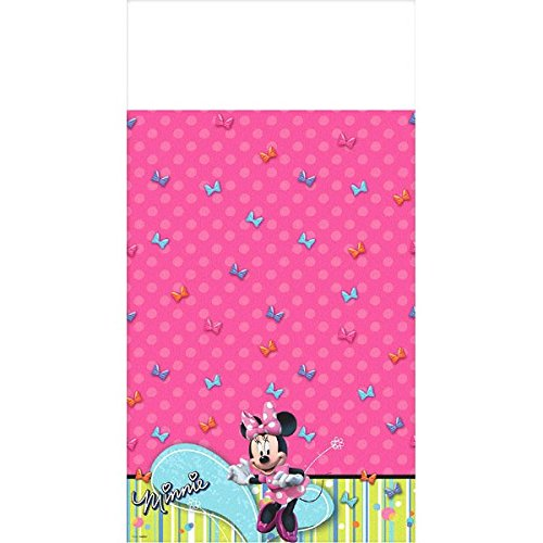 Disney Minnie Plastic Table Cover Birthday Party Tableware Decoration (1 Piece), Pink, 54