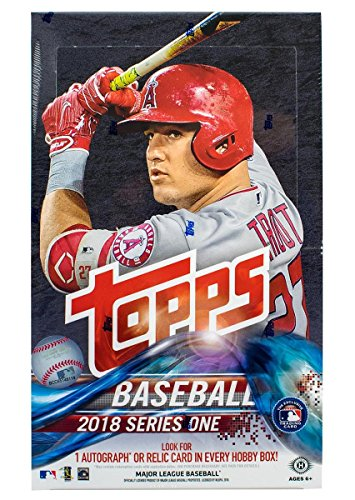 2018 Topps Series 1 Hobby Box 36 Packs of 10 Cards: 1 Autograph or Relic Card, 21 - 24 Inserts, 3 (Heroes Sketch Cards)