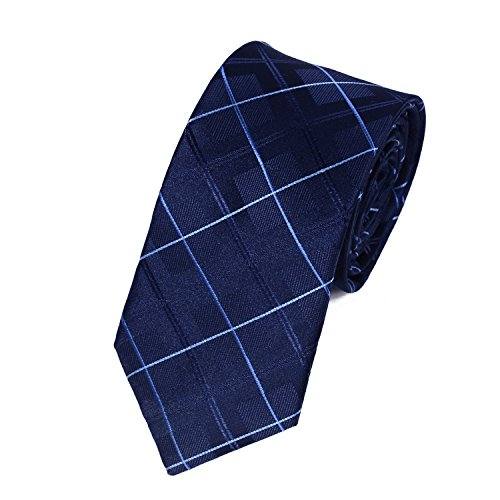 Salutto Mens Classic Plaid Grid Tie Polyester Formal Necktie (Polyester Plaid Tie)