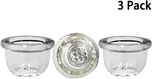 Honeycomb Glass Screen Replacement Bowl (JK 3 Pack)