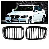 Opar Front Matte Black Kidney Grille Grill for BMW 1998-2001 E46 320i 323i 325i 328i 330i 4D 4 Door - Pair