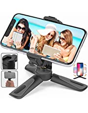 Phone Tripod Stand, Portable Desktop Holder with Cold Shoe Mount for iPhone/Android Samsung, Camera GoPro/Mobile Cell Phone Smartphone, Lightweight