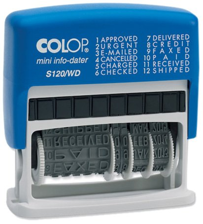 COLOP S120//WD DIAL A PHRASE DATER S120WD