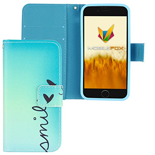 Mobilefox Smile Flip Case Handytasche Apple iPhone 7