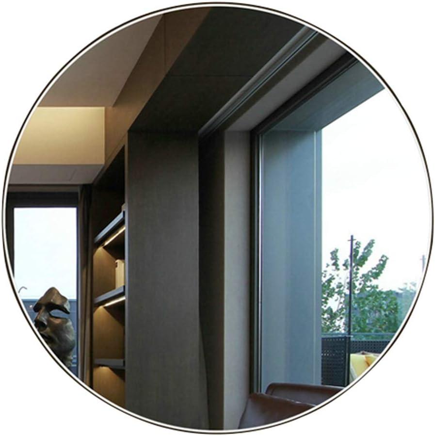 YSDHE Espejo de la vanidad del baño, Espejo montado en la Pared, Grueso Redondo 5m m (Size : 80cm)