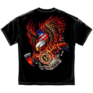 Firefighter Accessories | Patriotic fire Eagle American Made Shirt ADD132-FF2062-5XL