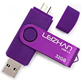LEIZHAN 32GB OTG USB Flash Drive Purple USB 2.0 Pen Drive Gift Suitable For Android Smart Phone System 4.5 Above