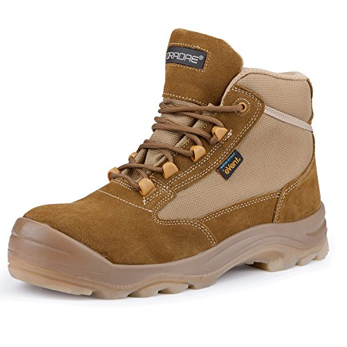 Men's Cowhide Suede Waterproof Outdoor Work Duty Boots Safety Toe Puncture Resistance Outsole Size 10 by ORADAE (Image #8)