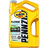 Pennzoil 550046127 Platinum Full Synthetic Motor Oil (SAE, SN) 0W-20, 5 Quart - Pack of 1