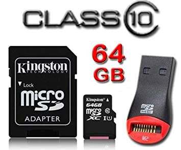 Kingston 64 GB class-10 microSDXC Micro SD XC Tarjeta de ...