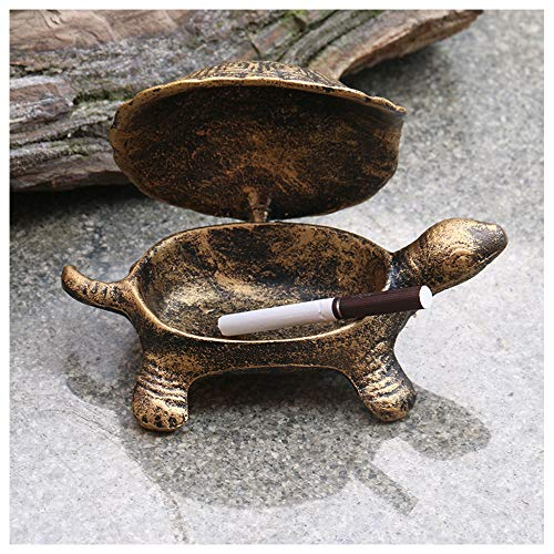 TSG Monsiter Turtle Vintage Ashtrays with Lids, Art Deco Cigarettes Cute Ash Tray for Outdoor Indoor Use,Unique Ashtray for Home Office Tabletop Decoration, Windproof Nice Gift for Men and Women