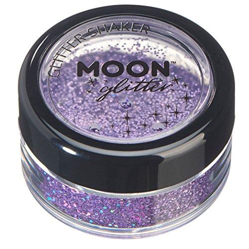Glitter Cheer Body - Moon Glitter Holographic Glitter Shakers, Purple, Single, 5g