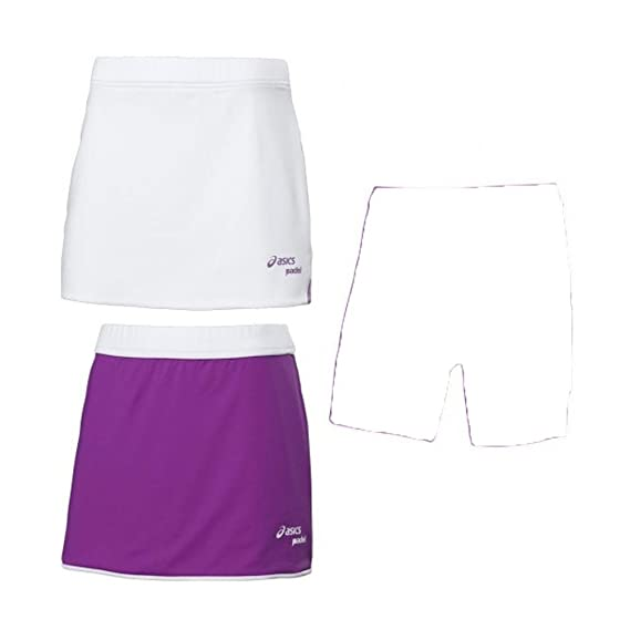 ASICS Falda W`S Padel Reversible Skirt 113433 0001: Amazon ...
