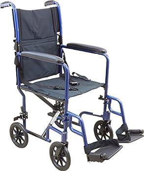 Roscoe Medical Kta1916sa-bl Aluminum Transport Wheelchair, Blue 0