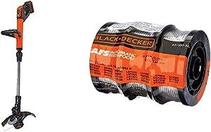 BLACK+DECKER 20V MAX 2-Speed String Trimmer/Edger with Trimmer Line, 30-Foot, 0.065-Inch, 3-Pack (LST522 & AF-100-3ZP)