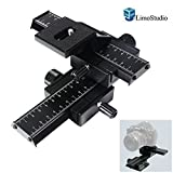 LimoStudio Photography Studio 4 Way Photo Shooting Macro Focus Rail Metal Slider For DSLR Digital Camera, AGG1665