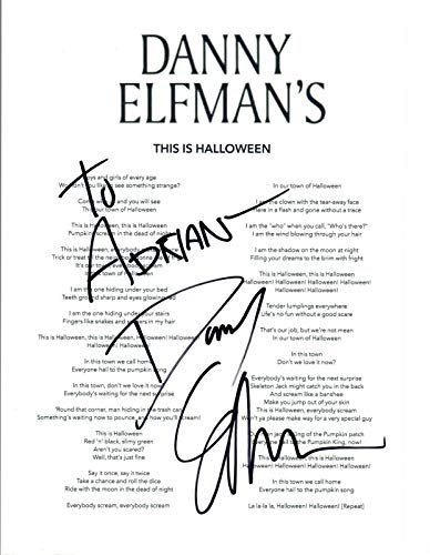 Danny Elfman Signed Autographed