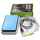MasterStor One touch Backup 120GB Hard drive (1 Year Warranty) USB 3.0 Super-Fast Portable External Hard Disk 2.5-inch SATA External Hard Drive Blue