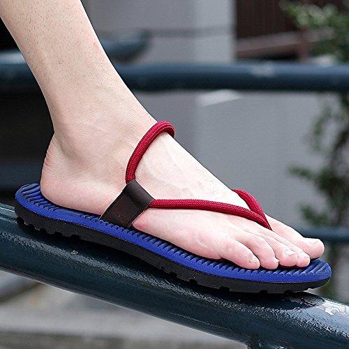 Homme roi chaussures remorque Chaussures la frais Antidérapant Bas Été de de tirer Bain marée homme Word d'été personnalité masculine pour Sandales Bleu Massage l'homme plage Xing loisir Lin de wIxSOqfRn