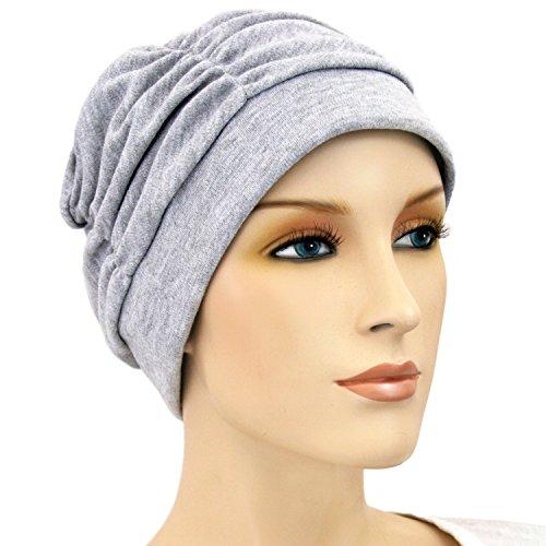 Hats for You Women's Shirred Chemo Cap, Sweatshirt Grey, One Size