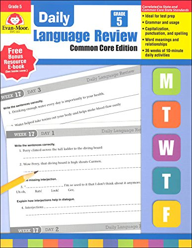 Math Worksheets common core 4th grade math worksheets : Daily Language Review, Grade 5 Common Core Edition: Evan Moor ...