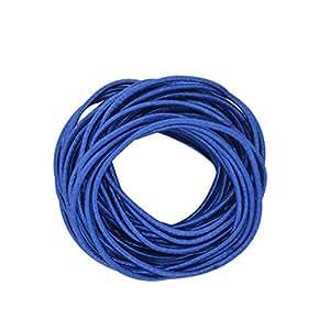 Coobbar 100pcs Women Elastic Hair Ties Band Ropes Ring Ponytail Holder (Dark Blue)