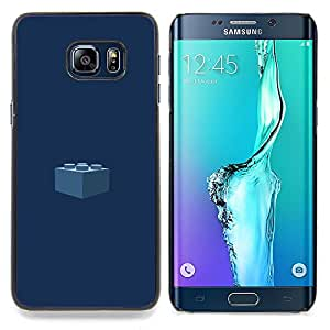 Stuss Case / Funda Carcasa protectora - Pedazo Kids Azul marino - Samsung Galaxy S6 Edge Plus / S6 Edge+ G928