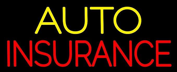 Usa Auto Insurance >> Auto Insurance Neon Sign Made In Usa Amazon Com