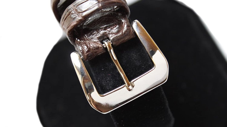 ソリッド18 Kゴールド腕時計バンドバックル交換用for Luxury Watchストラップbyジョンアレンウッドワード 18mm ブラック 18mm   B074KK9PG9