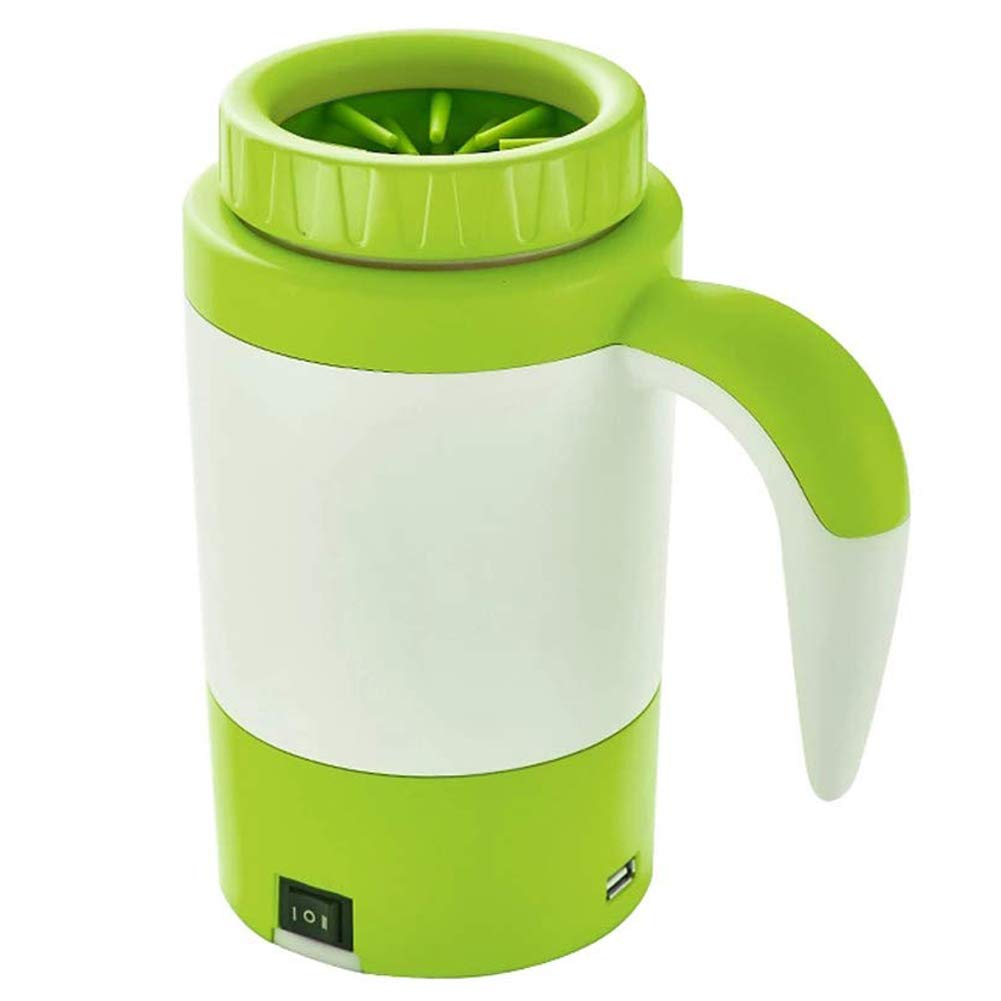 Dog Paw Cleaner,Automatic Portable Foot Washing Pet Electric Washer Cup,Green,18.621.3cm
