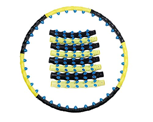 Detachable Magnetic Weighted Hula Hoop Health Exercise Fitness 43in 3.5lb Lose Weight