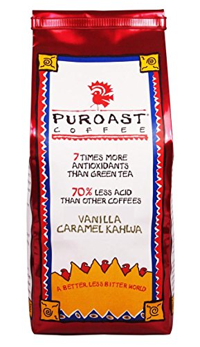 Puroast Coffee Ground Coffee, Vanilla Caramel Kahlua, 12 Ounce