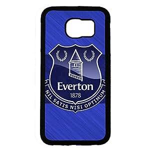 Custom Everton Football Club Logo Protective Phone Case Black Hard Plastic Case Cover For Samsung Galaxy S6