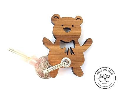 Señor & señora Panda, oso de peluche llavero - 100% bambú ...
