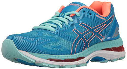 ASICS Women's Gel-Nimbus 19 Running Shoe, Diva Blue/Flash Coral/Aqua Splash, 10 M US