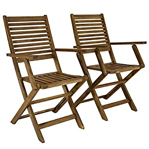 Garden Chairs Folding Wooden Slatted Chair