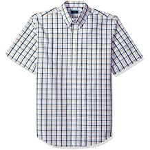 Arrow Men's Big and Tall Short Sleeve Hamilton Poplin Shirt