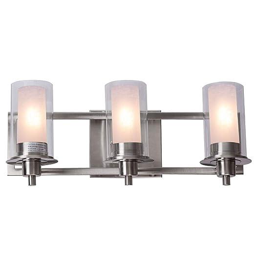 Amazon.com: Tangkula - Lámpara de pared para baño (níquel ...