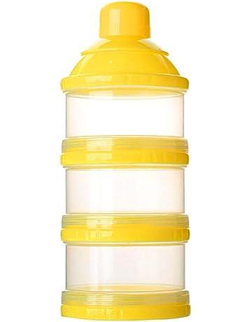 Kanggest Botella de 3 Capas para Bebé Comida Caja de Leche en Polvo Caja Transparente Portátil