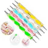 5 pc 2 Way Dotting Pen Tool Nail Art Tip Dot Paint Manicure kit