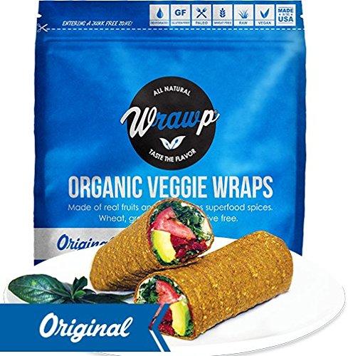 Wrawp Organic Veggie Flatbread, Original, 5.3 Ounce