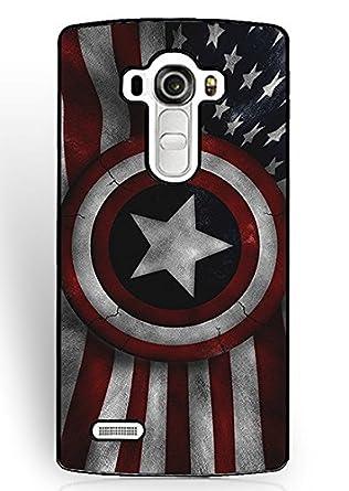 LG G4 piel caso Capitán América Logo Marvel Comics colección ...