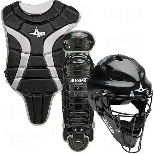 League Baseball Catchers - All Star Youth League Series Catchers Gear Sets Ages 9-12 Black