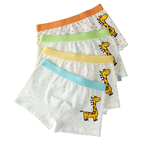 Dot Boyshorts Panties - Jeleuon Little Girls Toddler Kids Giraffe Dots Boyshort Hipster Panties Kids Underwear 4Pcs