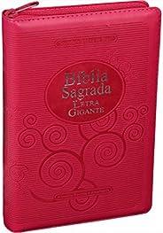Bíblia Sagrada Letra Gigante com índice e zíper: Almeida Revista e Atualizada (ARA)