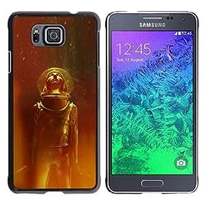 """For Samsung Galaxy Alpha G850 Case , Traje espacial Viajes Estrellas Universo Casco Cosmos"""" - Diseño Patrón Teléfono Caso Cubierta Case Bumper Duro Protección Case Cover Funda"""