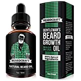 growth Beard Growth Oil - USA Made Natural Essence (30ml) - Mustache Softener Oil - Promotes Growth, Fuller & Thicker Beard - Leave-in Conditioner (Unscented)